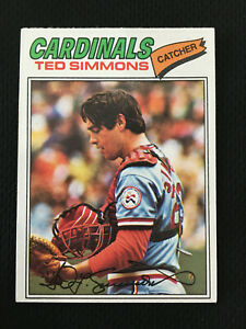 TED SIMMONS 1977 TOPPS ST LOUIS CARDINALS BASEBALL CARD