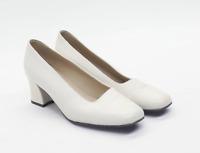 Marks & Spencer Womens UK Size 5 Cream Leather Heels