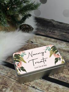Personalised Nanny's Treat Tin, Christmas Gift, Women's Gift, Nan, Nanny, Nanna