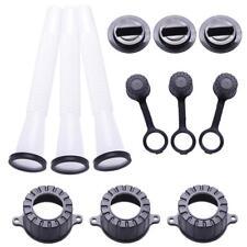 3 Sets Replacement Gas Can Spout & Parts Vent Cap Gasket Stopper Spout Cap MZ
