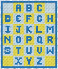 Baby Blanket - Alphabet Fun - C2C Graphghan Crochet Pattern