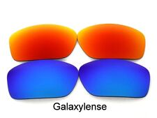 Galaxy Replacement Lens For Oakley Scalpel Sunglasses Blue&Red Polarized