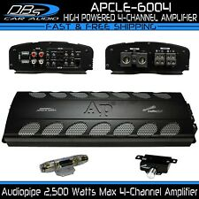 4 Channel Amplifier 2500W Max 4CH Fullrange Car Audio Amp Audiopipe APCLE-6004