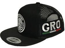GUERRERO MEXICO HAT 2 LOGOS  BLACK MESH SNAPBACK ADJUSTABLE NEW HAT