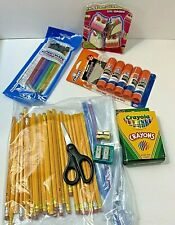 School Supply Lot Glue Crayons Pencils Erasers Free priority shipping