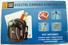 Case Logic Digital Camera Starter Kit Incl Case Mini Tripod Cable Ties & more