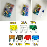 120 pcs Standard Lightweight Car Truck Mini Blade Fuse Set Transparent enclosure
