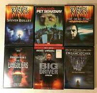 Lot 6 Stephen King DVD Horror Movies- Silver Bullet The Dead Zone Pet Sematary
