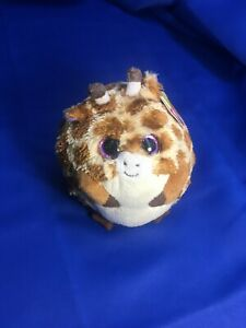 """Ty Beanie Ballz  """"TIPPY""""  the Giraffe - 2013 / 14"""" Circumference -  ALL Tags"""