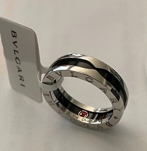 Bvlgari - Save the Children Ring // Sterling Silver & Ceramic Sz 9