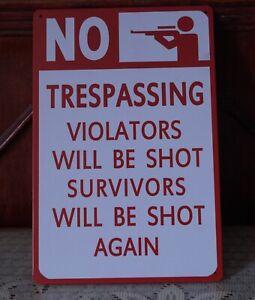 NO Warinng Gun Poster Vintage metal Tin signs man cave Home Pub Bar wall decor