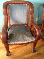 Rare 1800's Antique AmErican Victorian Edwardian Mahogany Kings Chair Lion Paw
