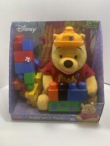 Disney Mega Bloks Build With Pooh Plush Winnie the Pooh NEW