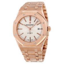 Audemars Piguet Royal Oak Automatic Silver Dial 18kt Rose Gold Mens Watch