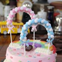 Süße weiche Pompon Wolke Cake Topper Baby Shower Geburtstag Kuchen Flags Decor