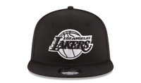 NEW ERA 9FIFTY SNAPBACK HAT.  NBA.  LOS ANGELES LAKERS.  BLACK.
