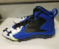 NEW Under Armour Spine Clutch Football Cleats Sz 11.5 Electric Blue White Black