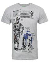 Haynes Manual Star Wars C3PO and R2D2 Men's T-Shirt