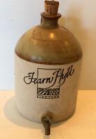 Rare Large Fearn Hyll Vineyard Pottery Wine Bottle Decanter Jug (EMPTY)