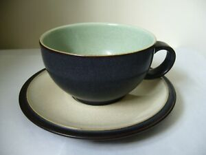DENBY ENERGY TEA CUP AND SAUCER SECOND QUALITY GOOD USED CONDITION L