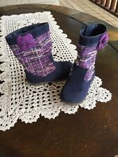 Stride Rite Mira Blue and Purple Fashion Boots Toddler Girl Size 7.5 Medium
