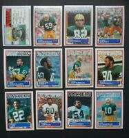 1983 Topps Green Bay Packers Team Set of 12 Football Cards
