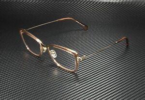 VERSACE VE1243 1401 Pale Gold Brown Transp Demo Lens 52 mm Women's Eyeglasses