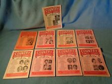 9 vintage 1965 1966 COUNTRY SONGS and STARS magazines