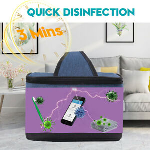 Portable UV Sterilizing Bag LED UVC Light Rechargeable USB Box Home