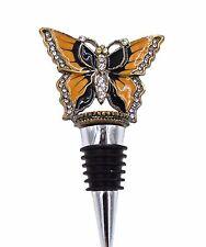 """Butterfly"" Brass and Enameled Wine Bottle Stopper (5027)"