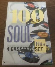 "100 Soul Hits ""Various Artists"" NEW & SEALED 4 x Tape Cassettes"