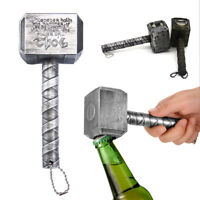 Thor's Hammer Shape Beer Bottle Opener Wine Corkscrew Beverage Wrench Jar Opener