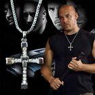Da uomo Croce D'argento Catenina Collana Fast and Furious Film Dominic Toretto