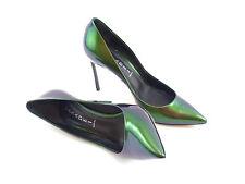 Casadei   Blade   Green iridescent   UK 6   EU 39   RRP £495   High Heel Shoes