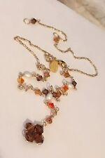 Kira Designs Beautiful Faceted Glass Dainty Drop Pendant Choker Necklace #C8