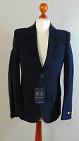 Italian AUSTIN REED Mens Blue Navy Brushed Cotton Work Business Suit Jacket NEW