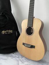 More details for little martin lx1 3/4 acoustic guitar & gig bag travel guitar solid spruce top