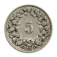 KM# 26 - 5 Rappen - Switzerland 1902 (Fair)