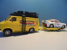 MATCHBOX LESNEY SUPERKINGS TEAM PORSCHE DODGE VAN, CAR & TRAILER,c1979-83