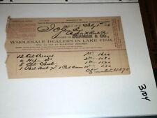 #3104,Dormer & Co. Dealers in Lake Fish 1886,Buffalo NY Billhead