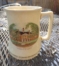 Antique University of Illinois Staffordshire Mug Illini Union 1940's.