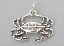 New Sterling Silver Charm Pendant 3D CRAB Cancer Zodiac Nautical 1097