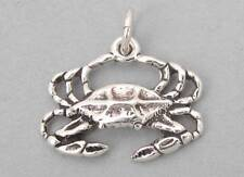 New Sterling Silver 925 Charm Pendant 3D CRAB Cancer Zodiac Nautical 1097