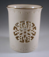 LENOX CHINA LACE SNOWFLAKE CANDLE HOLDER, MADE IN USA