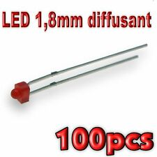 364/100# LED 1,8mm rouge diffusant 100pcs