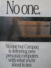 11/1991 PUB 3 PAGES COMPAQ COMPUTER PC ORDINATEUR DESKPRO 386 486 ORIGINAL AD