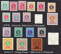 Natal set of 17 sg146 - 171 (forgeries)