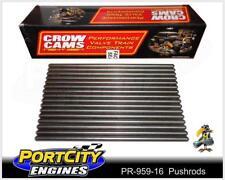 """Superduty Pushrods Holden Chev V8 LS1 5.7L 7.375"""" - 0.025"""" 5/16"""" .080"""" PR-959-16"""