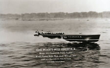 Gar Woods U10 Miss America X Worlds Fastest Speed Boat 124 MPH Packard Motors