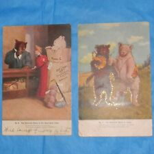 "Lot of 2 Antique Roosevelt Teddy ""B"" & ""G"" Teddy Bear Postcards! #1 & #9."